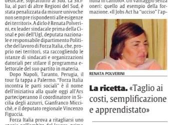 """""""Fallimentari le politiche per l'occupazione al sud, serve un piano ad hoc"""" – intervista su La Sicilia"""